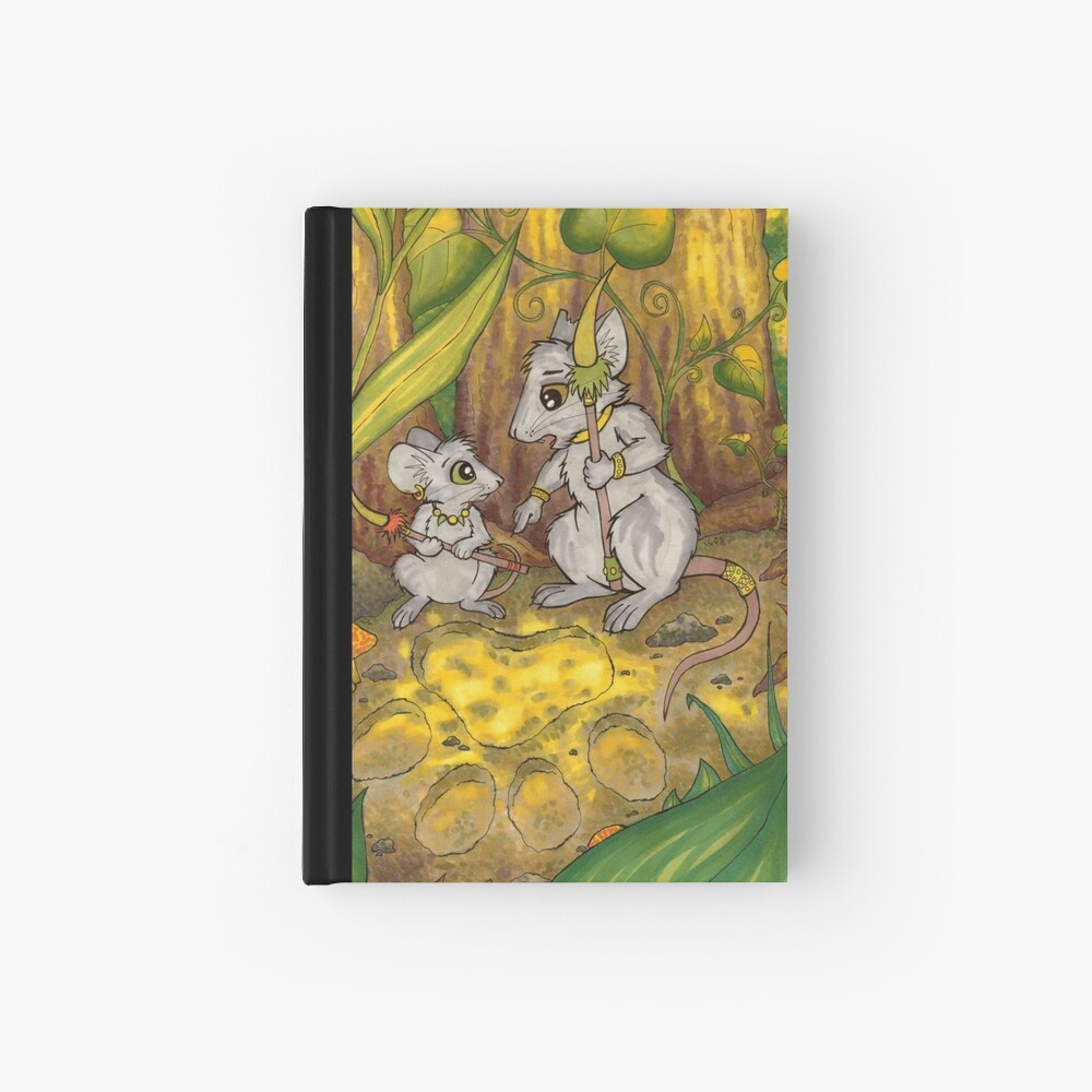 Hunting Lessons - Tribal Mice in the Jungle Hardcover Journal