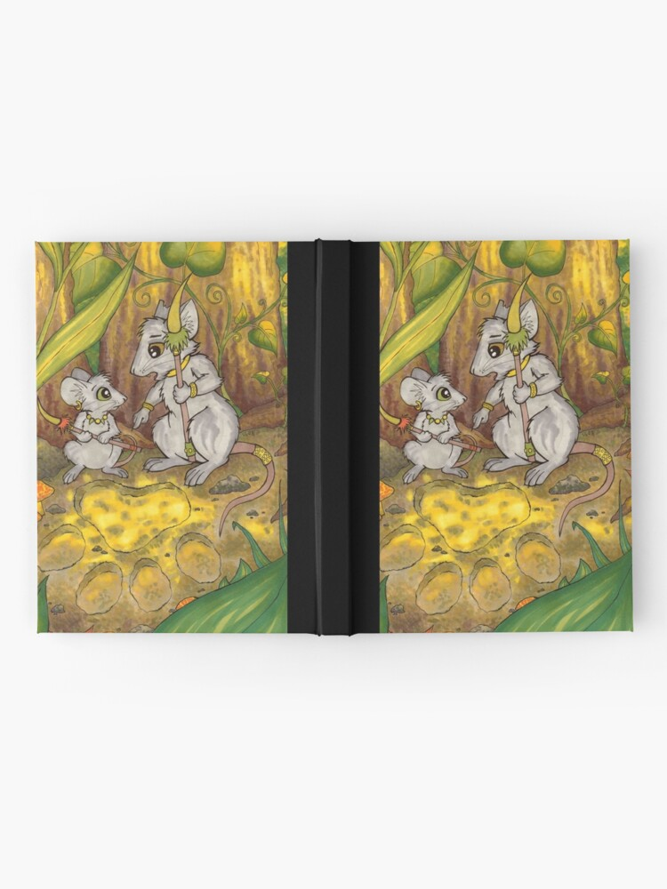 Alternate view of Hunting Lessons - Tribal Mice in the Jungle Hardcover Journal