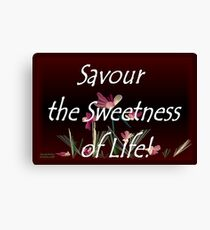 Savour the Sweetness of Life! Canvas Print
