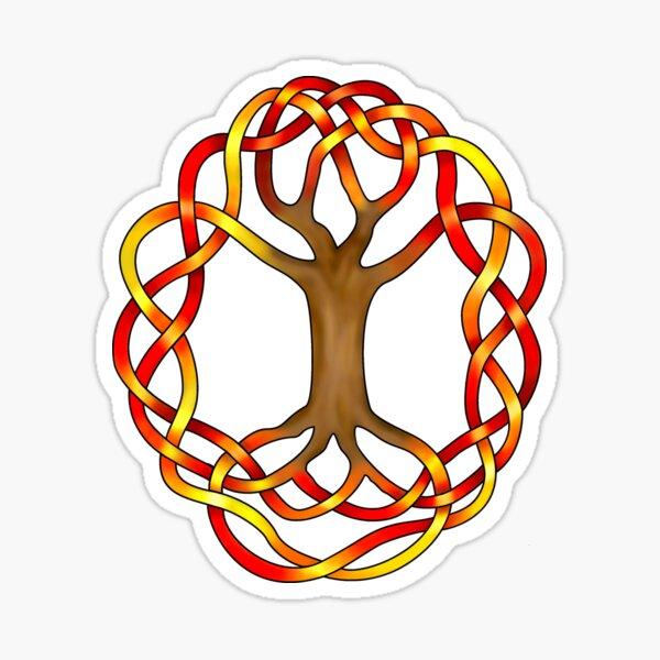 Celtic Knot World Tree, Autumn Sticker