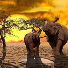 Climate Change Is Real, Save the Rhino by mia-scott