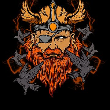 Odin Norse Mythology Viking God & Ravens by perfectpresents