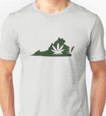 Marijuana Leaf Virginia Unisex T-Shirt
