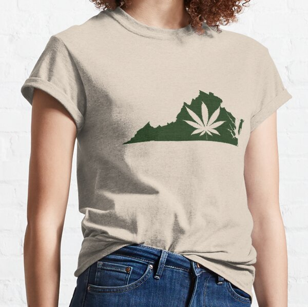 Marijuana Leaf Virginia Classic T-Shirt