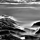 Garda and Molveno Lakes - BW by Antonio Zarli