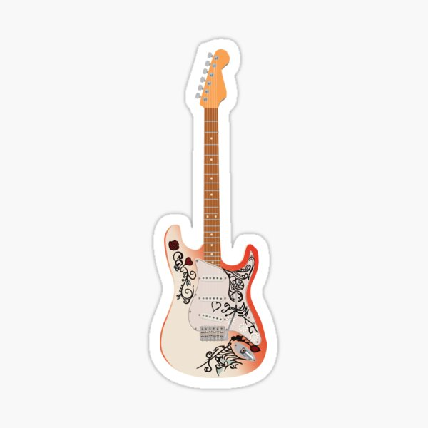 Hendrix Guitar Sticker