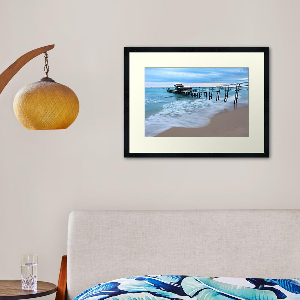 Portsea Pier, Mornington Peninsula, Australia  Framed Art Print