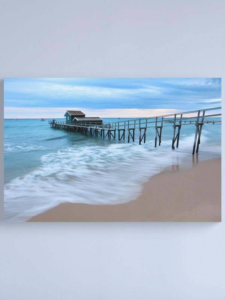 Alternate view of Portsea Pier, Mornington Peninsula, Australia  Canvas Print