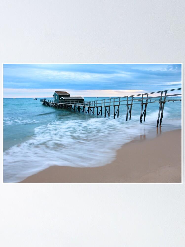 Alternate view of Portsea Pier, Mornington Peninsula, Australia  Poster