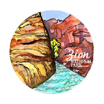 Zion National Park Watercolor  by shoshannahscrib