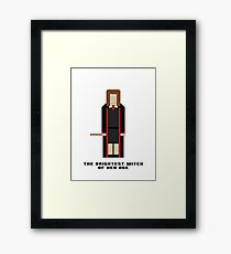 Hermione Granger 'The Brightest Witch of Her Age' 8-bit Framed Print