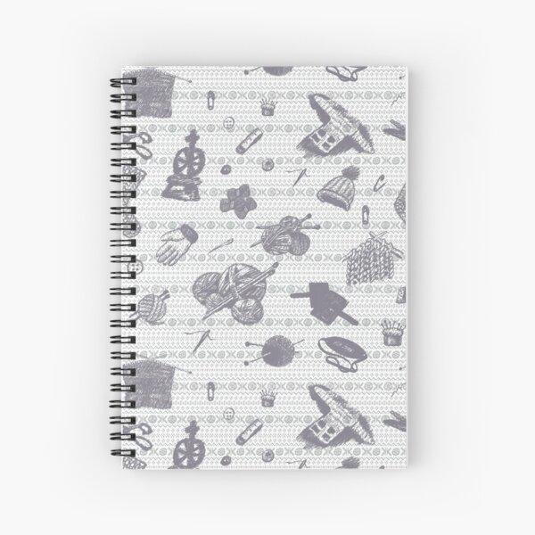 Tak Dee Sock - Grey Spiral Notebook
