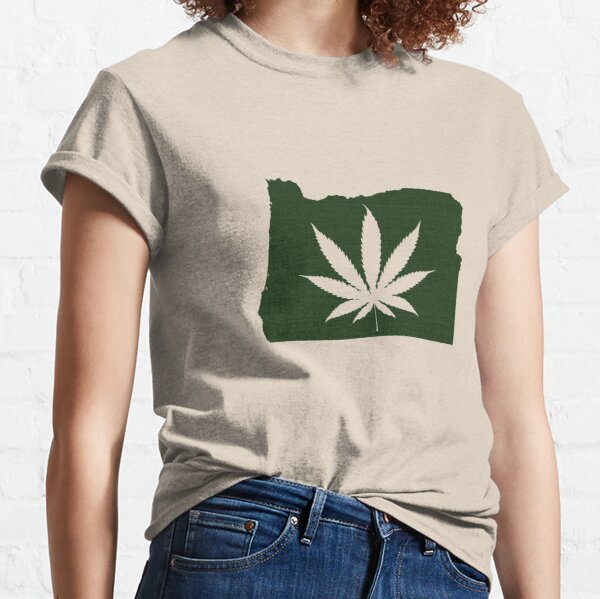 Marijuana Leaf Oregon Classic T-Shirt