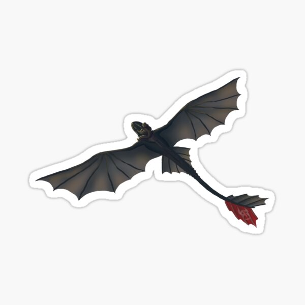 Toothless and Hiccup - Flying Riding Pegatina