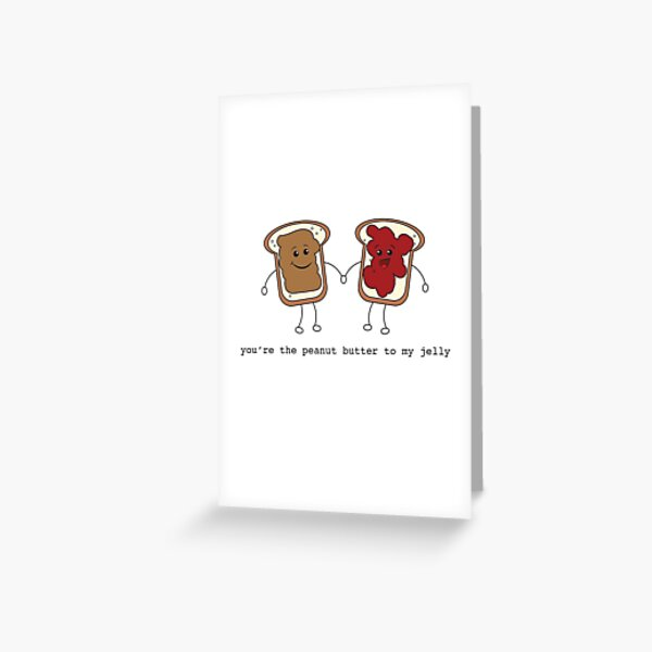 peanut butter and jelly love Greeting Card