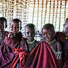 Portrait of Young Maasai Children 4239 by neptuneimages