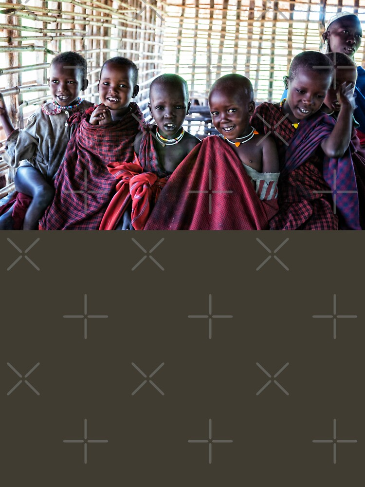 4239 Portrait of Young Maasai African Children Tanzania by neptuneimages