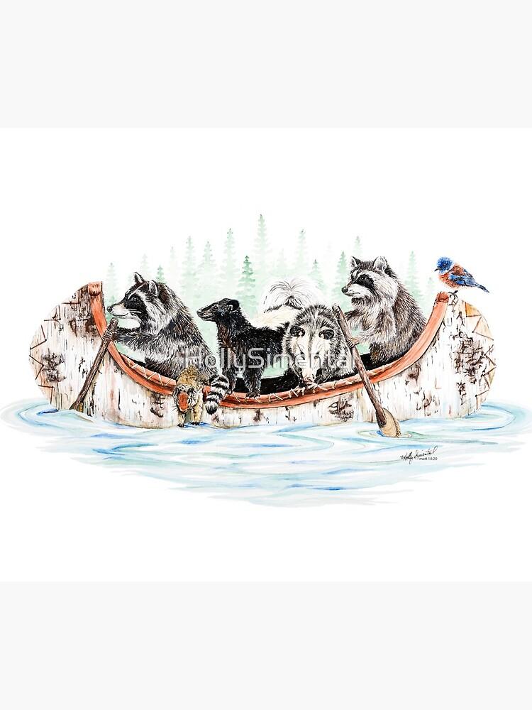 Critter Canoe - forest animals by HollySimental