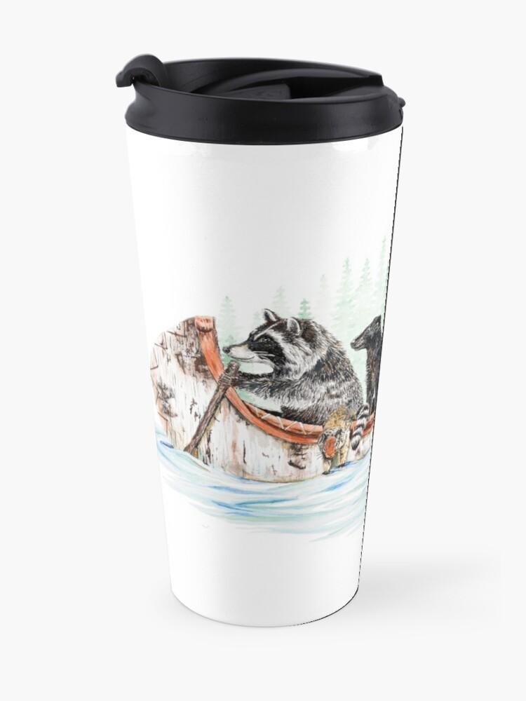 Alternate view of Critter Canoe - forest animals Travel Mug