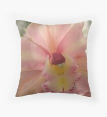Nude Orchid Throw Pillow