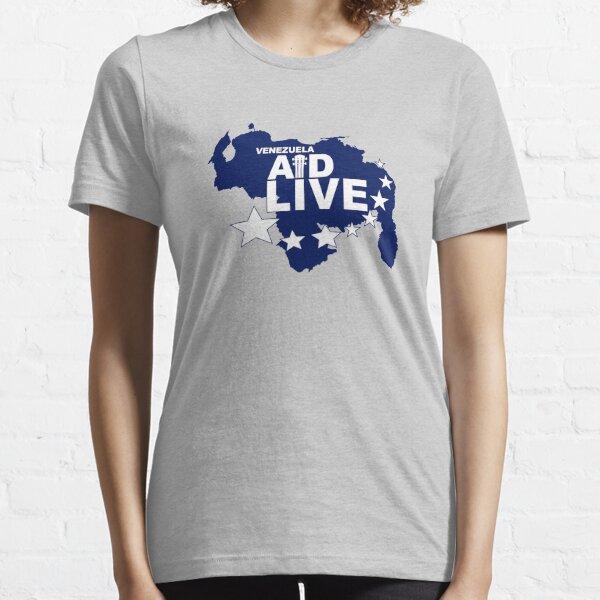 VENEZUELA AID LIVE - #AidVenezuela #AyudaVenezuela FOR THE VENEZUELAN PEOPLE #VamosBien Camiseta esencial
