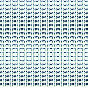 Modernes Floral Contemporary Blau-Grün von PageDesigns