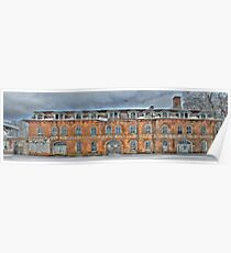 Old Factory Panorama along The Hudson River Poster