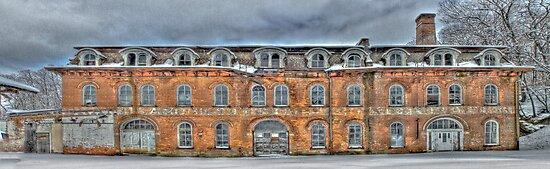 Old Factory Panorama along The Hudson River by Jaime Martorano
