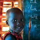 Happy Young Maasai Child 4269 by neptuneimages