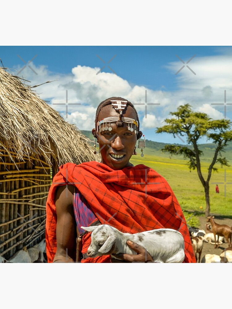 Maasai Tribesman with Goat 4279 by neptuneimages