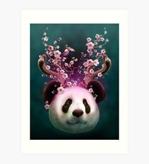 PANDA HORNS UP Art Print