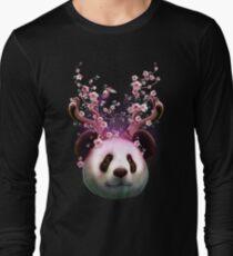 PANDA HORNS UP Long Sleeve T-Shirt