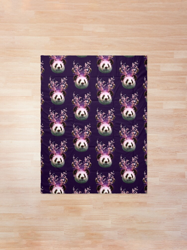 Alternate view of PANDA HORNS UP Comforter