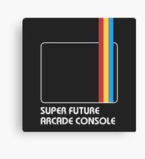 SUPER FUTURE ARCADE CONSOLE Canvas Print