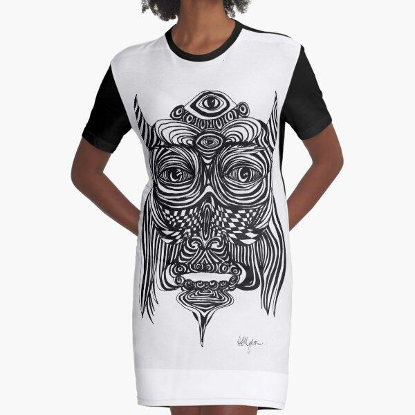 Spirit Owl Graphic T-Shirt Dress