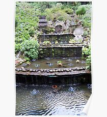 Cascada del jardín Poster