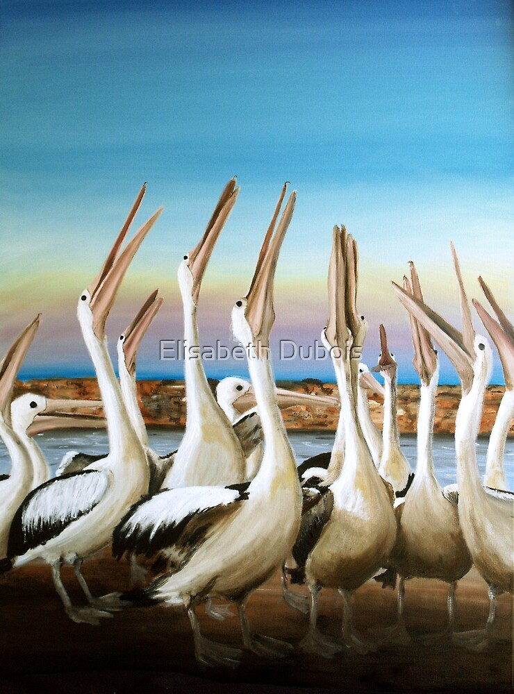 Where's the prawn? - bird - waterscape - skyscape - ED01 by Elisabeth Dubois