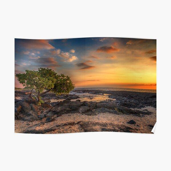 Wawaloli Beach Sunset Poster