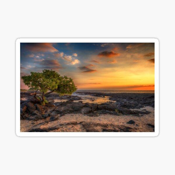 Wawaloli Beach Sunset Sticker