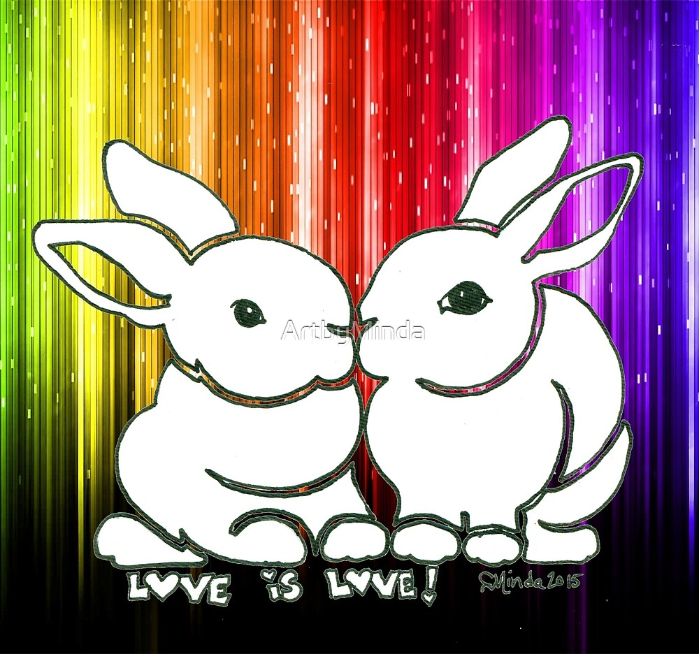 Love is Love Rabbits by ArtbyMinda