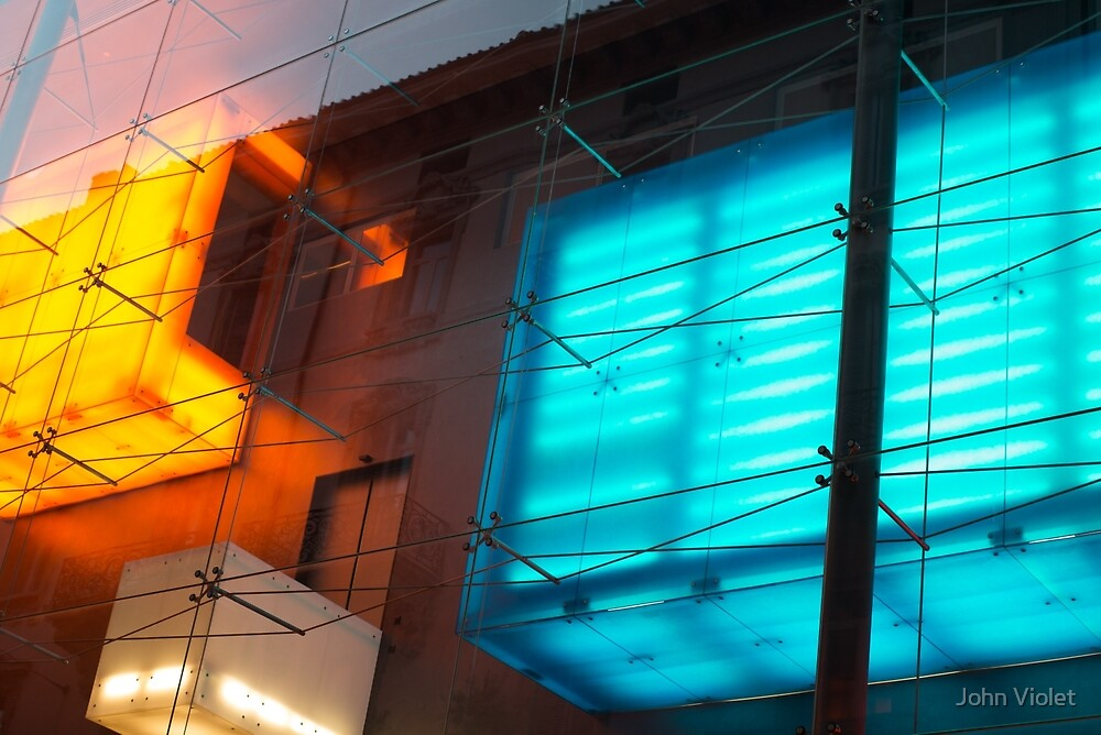 Coloured Glass Building by John Violet