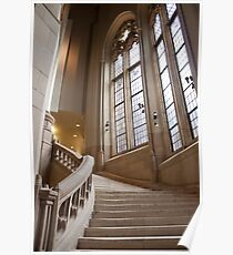The Grand Staircase in the Suzzallo Library Poster