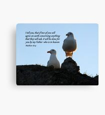Two Agree Canvas Print
