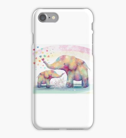 elephant affection iPhone Case/Skin