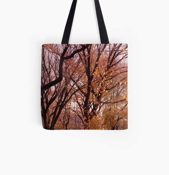 Central Park in the fall All Over Print Tote Bag