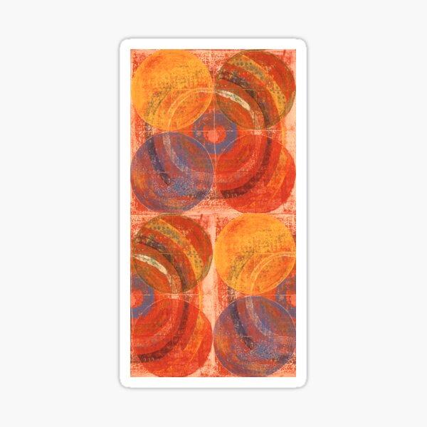 Peach Bullseye by Katie Hawkinson Sticker