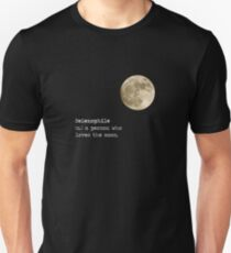 Full Moon Phase Selenophile Definition Slim Fit T-Shirt