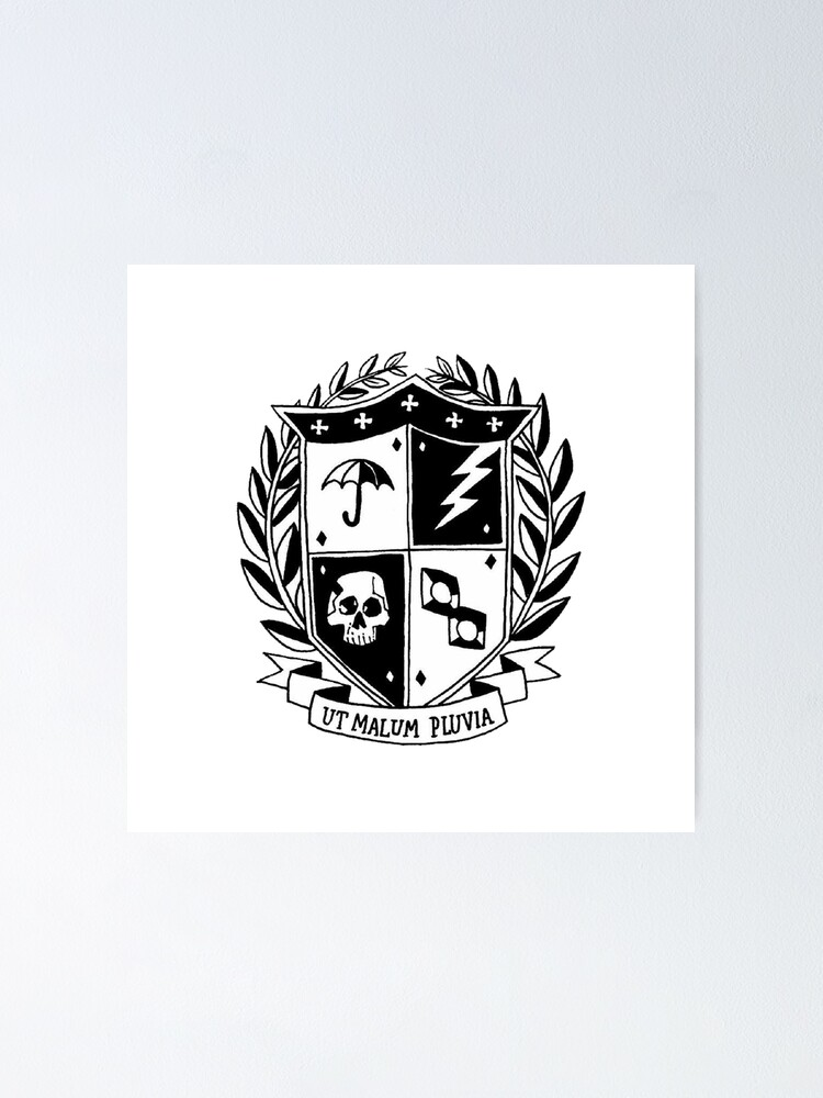 Alternate view of the umbrella academy crest Poster