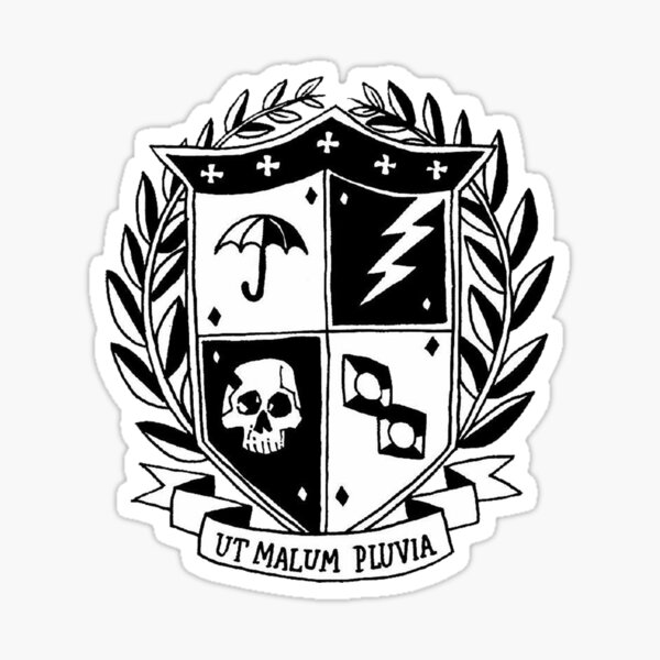 the umbrella academy crest Sticker
