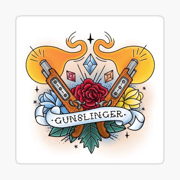Gunslinger - Vintage D&D Tattoo Sticker